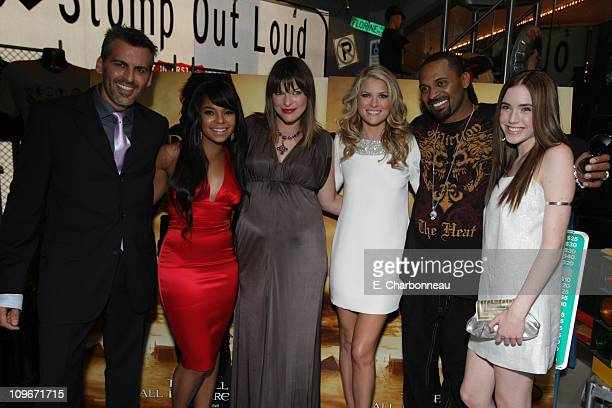 Oded Fehr Ashanti Milla Jovovich Ali Larter Mike Epps and Spencer Locke at the World Premiere of Screen Gems 'Resident Evil Extinction' at Planet...