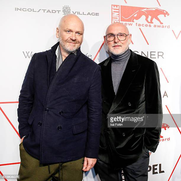 Odeeh designer Otto Droegsler and Joerg Ehrlich attend the New Faces Award Style on November 16 2016 in Berlin Germany
