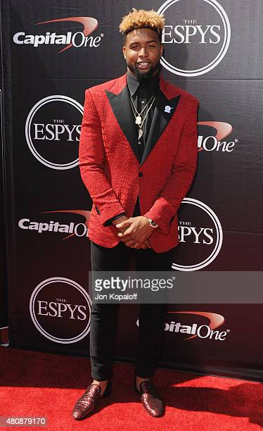 Odell Beckham Jr arrives at The 2015 ESPYS at Microsoft Theater on July 15 2015 in Los Angeles California