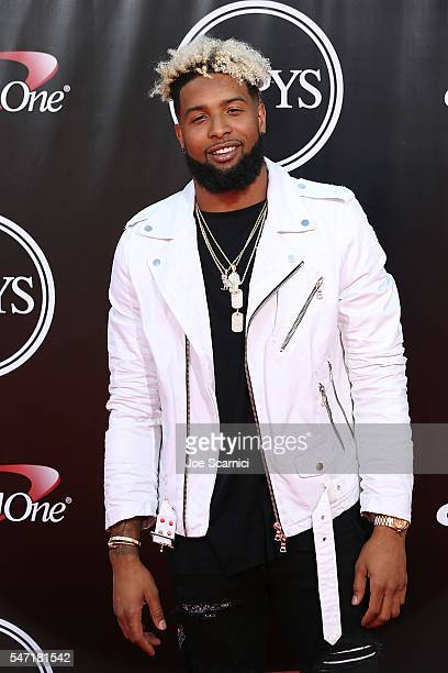 Odell Beckham Jr arrives at The 2016 ESPYS at Microsoft Theater on July 13 2016 in Los Angeles California