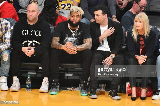 Odell Beckham Jr attends a basketball game between the Los Angeles Lakers and the Toronto Raptors at Staples Center on November 04 2018 in Los...