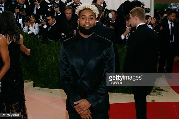 Odell Beckham Jr attends Manus x Machina Fashion in an Age of Technology the 2016 Costume Institute Gala at the Metropolitan Museum of Art on May 02...