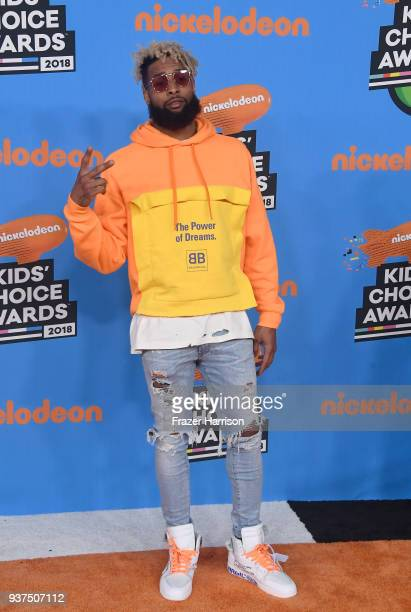 Odell Beckham Jr attends Nickelodeon's 2018 Kids' Choice Awards at The Forum on March 24 2018 in Inglewood California