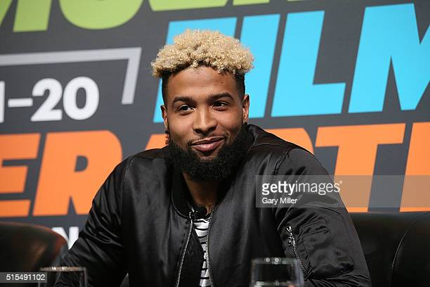 Odell Beckham Jr attends SXSports at the SXSW FilmInteractiveMusic festival at Austin Convention Center on March 13 2016 in Austin Texas