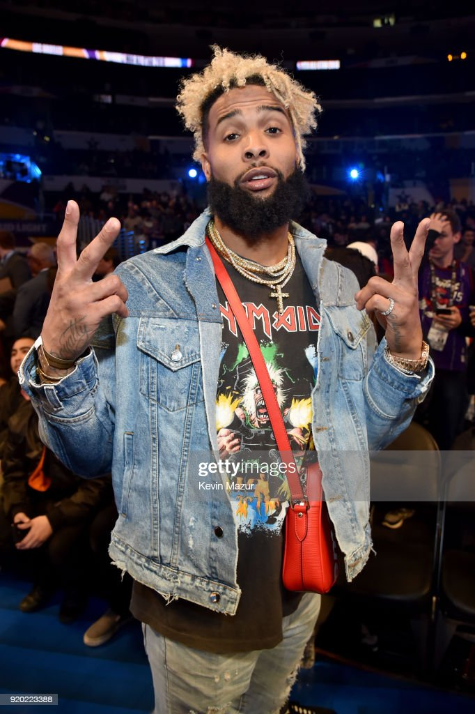 Odell Beckham Jr. attends the 67th NBA All-Star Game: Team LeBron Vs. Team Stephen at Staples Center on February 18, 2018 in Los Angeles, California.