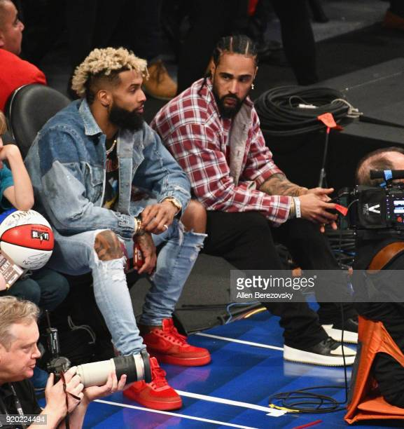 Odell Beckham Jr attends the NBA AllStar Game 2018 at Staples Center on February 18 2018 in Los Angeles California