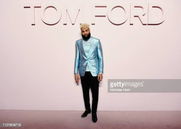 Odell Beckham Jr attends the Tom Ford FW 2019 Arrivals New York Fashion Week The Shows on February 06 2019 in New York City