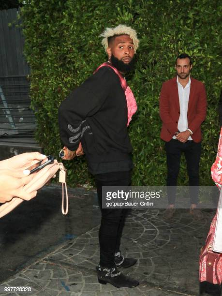 Odell Beckham Jr is seen on July 12 2018 in Los Angeles California