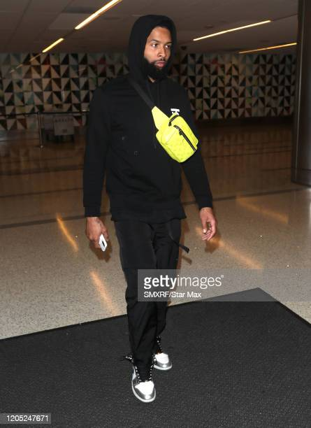 Odell Beckham Jr. Is seen on March 4, 2020 in Los Angeles, California.