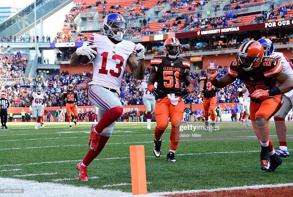 New York Giants v Cleveland Browns : Nachrichtenfoto