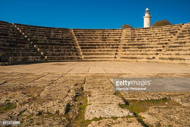 odeon archaeological site - パフォス ストックフォトと画像