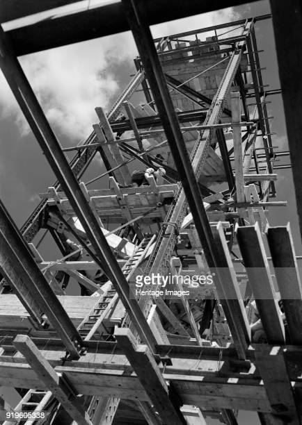 Odeon Cinema under construction Leicester Square Westminster London 1937 Cellulose nitrate negative The Alhambra in London's Leicester Square was...
