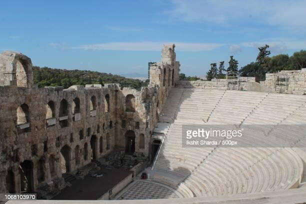 odeon of herodes atticus, acropolis, athens, greece - ancient greece photos bildbanksfoton och bilder