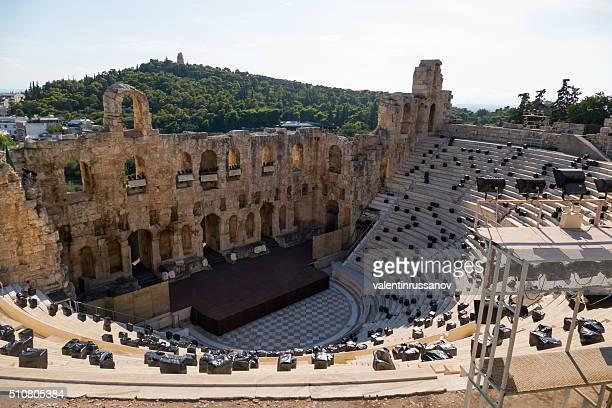 Odeion des Herodes Atticus, die Akropolis, Athen, Griechenland