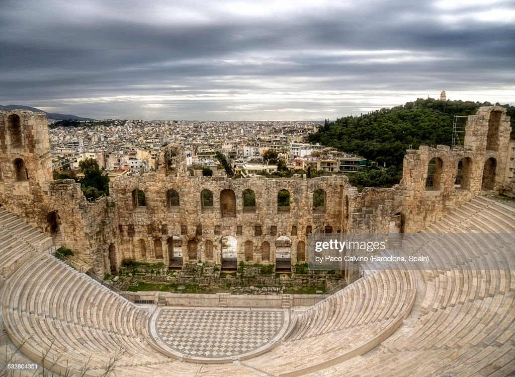 Odeon of Herodes Atticus. Athens, Greece : Stock Photo