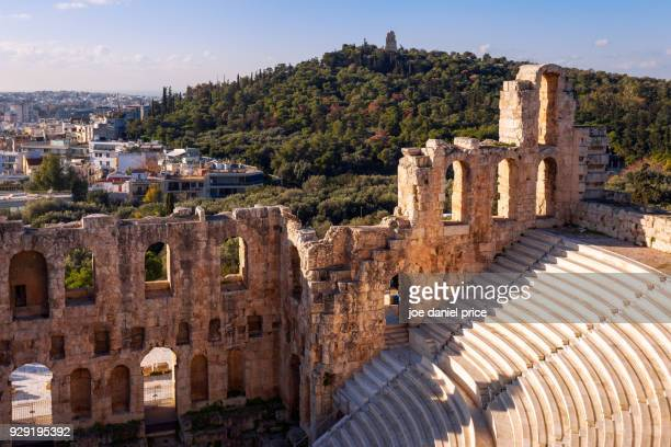 odeon of herodes atticus, athens, greece - old ruin stock photos and pictures