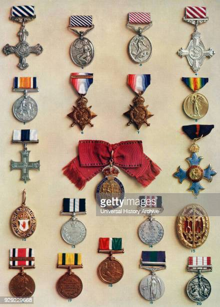 Oders medals and badges created by King George V 1 Distinguished Flying Cross 2 Distinguished Flying Medal 3 Air Force Medal 4 Air Force Cross 5...