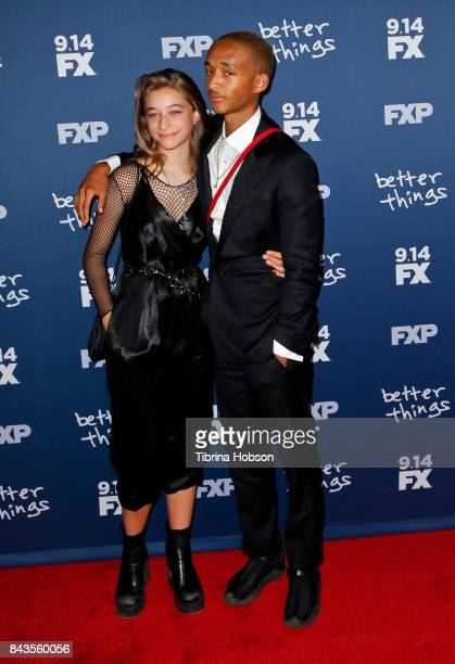 Odessa Adlon and Jaden Smith attend the premiere of FX's 'Better Things' season 2 at Pacific Design Center on September 6 2017 in West Hollywood...