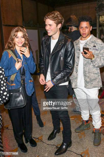 Odessa Adlon and Logan Shroyer are seen on February 15 2019 in Los Angeles California