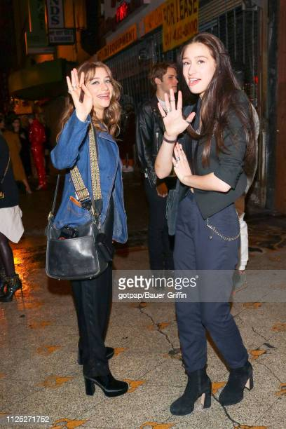 Odessa Adlon and Valentine Adlon are seen on February 15 2019 in Los Angeles California