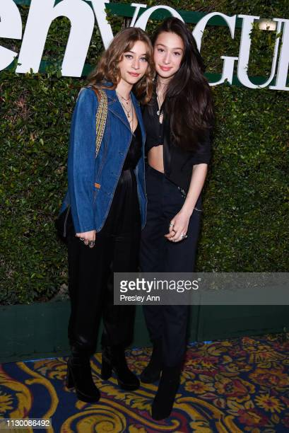 Odessa Adlon and Valentine Adlon attends Teen Vogue's 2019 Young Hollywood Party Presented By Snap at Los Angeles Theatre on February 15 2019 in Los...