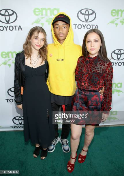 Odessa Adlon Jaden Smith and Gideon Adlon attend the 28th Annual Environmental Media Awards at Montage Beverly Hills on May 22 2018 in Beverly Hills...