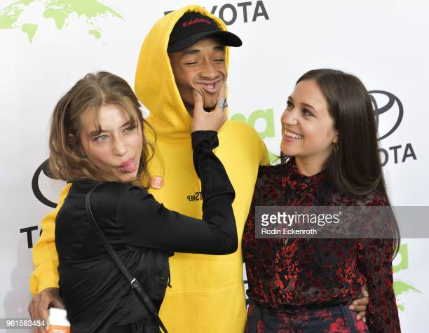 Odessa Adlon Jaden Smith and Rockie Adlon attend the 28th Annual EMA Awards Ceremony at Montage Beverly Hills on May 22 2018 in Beverly Hills...