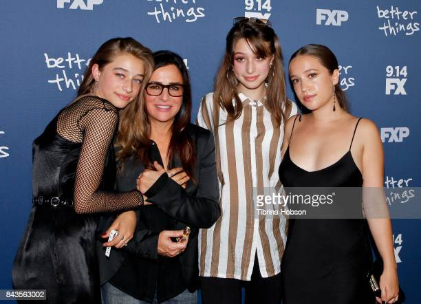 Odessa Adlon Pamela Adlon Rocky Adlon and Gideon Adlon attend the premiere of FX's 'Better Things' season 2 at Pacific Design Center on September 6...