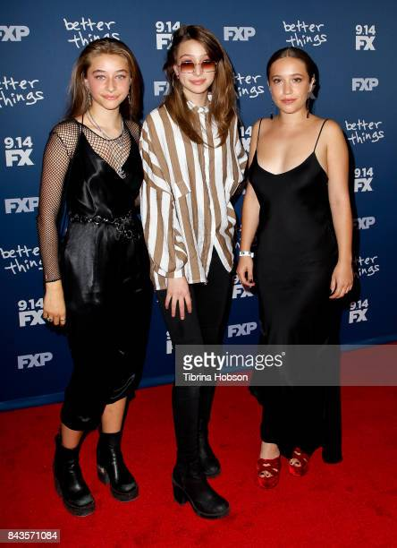 Odessa Adlon Rocky Adlon and Gideon Adlon attend the premiere of FX's 'Better Things' season 2 at Pacific Design Center on September 6 2017 in West...
