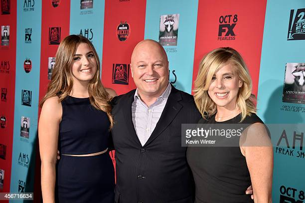 Odessa Chiklis actor Michael Chiklis and Michelle Moran attend the premiere screening of FX's American Horror Story Freak Show at TCL Chinese Theatre...