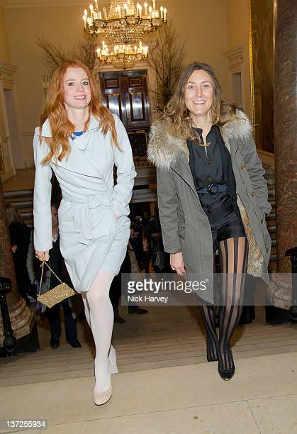 Odessa Rae and Dixie Chassay attend the David Hockney Private View at the Royal Academy of Arts on January 17 2012 in London England