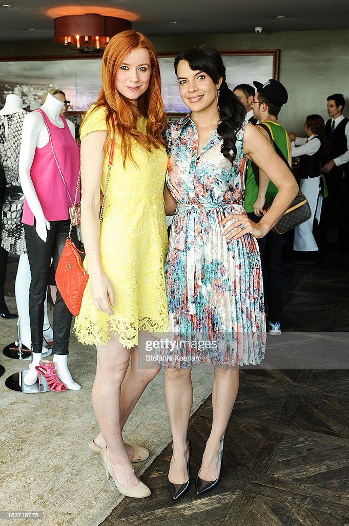 Odessa Rae and Zuleikha Robinson attend L.K. Bennett Tea Luncheon on March 14, 2013 in West Hollywood, California.