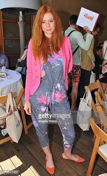 Odessa Rae attends the HauteLook luncheon celebrating Malibu Barbie By Trina Turk at Nobu Malibu on June 14 2013 in Malibu California