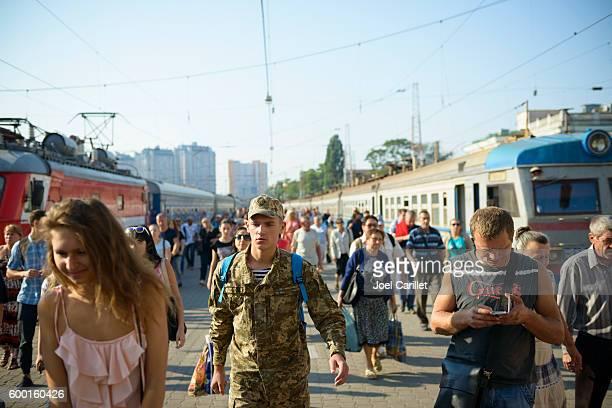 odessa train station in ukraine - odessa ukraine stock pictures, royalty-free photos & images