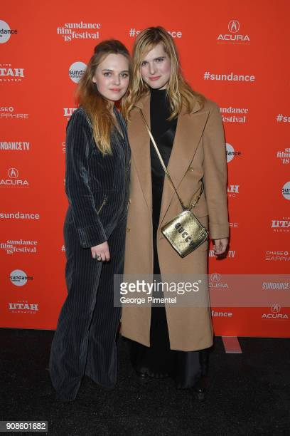 Odessa Young and Hari Nef attends the 'Assassination Nation' Premiere during the 2018 Sundance Film Festival at Park City Library on January 21 2018...