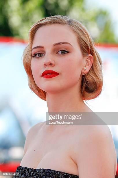 Odessa Young attends the premiere of 'Looking For Grace' during the 72nd Venice Film Festival at Sala Grande on September 3 2015 in Venice Italy