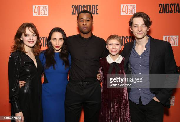 """Odessa Young, Lauren Patten, J. Alphonse Nicholson, Tavi Gevinson and Mike Faist attend the After Party for the Second Stage Production of """"Days Of..."""