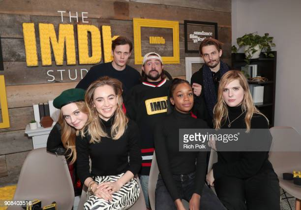 Odessa Young Suki Waterhouse Bill Skarsgard Kevin Smith Abra Sam Levinson and Hari Nef of 'Assassination Nation' attend The IMDb Studio and The IMDb...