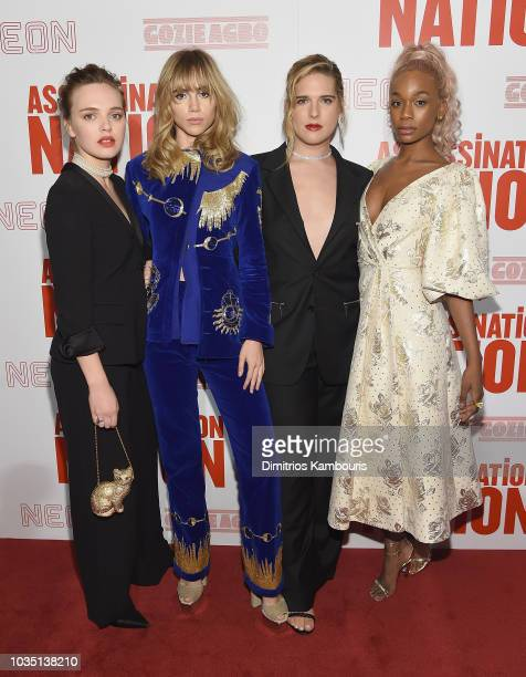 Odessa Young Suki Waterhouse Hari Nef and Abra attend The 'Assassination Nation' New York Screening at Metrograph on September 17 2018 in New York...