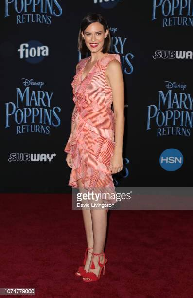 Odette Annable attends the premiere of Disney's Mary Poppins Returns at the El Capitan Theatre on November 29 2018 in Los Angeles California