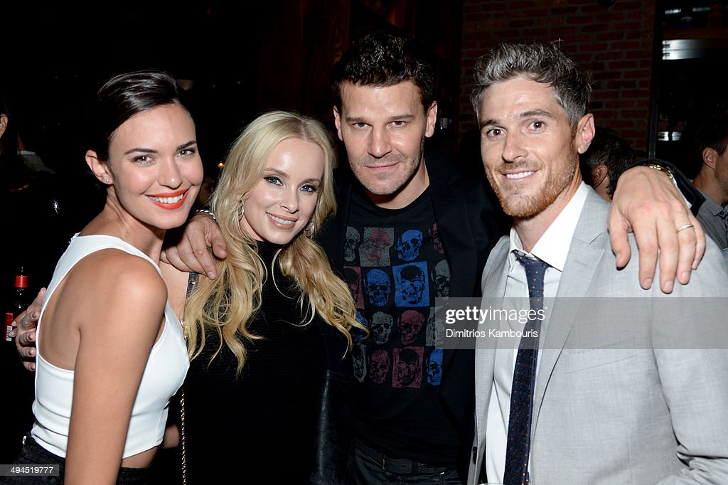 Odette Annable, Jaime Bergman, David Boreanaz, and Dave Annable attend the 2014 CAA Upfronts party on May 12, 2014 in New York City.