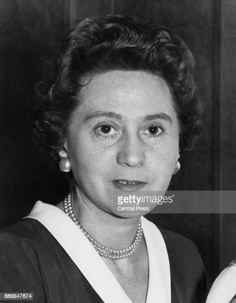 Odette Hallowes formerly Sansom or Churchill a former Allied intelligence officer during World War II 17th July 1956