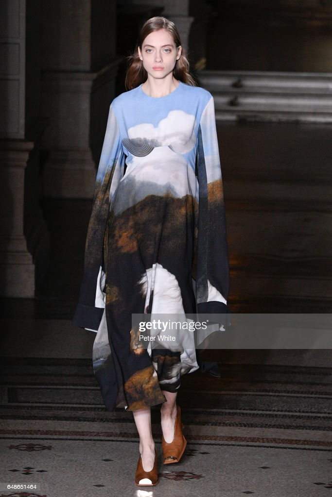 Odette Pavlova walks the runway during the Stella McCartney show as part of the Paris Fashion Week Womenswear Fall/Winter 2017/2018 on March 6, 2017 in Paris, France.