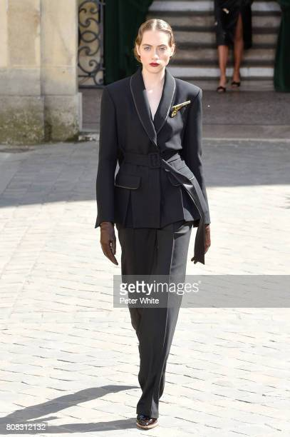 Odette Pavlova walks the runway during the Ulyana Sergeenko Haute Couture Fall/Winter 20172018 show as part of Haute Couture Paris Fashion Week on...