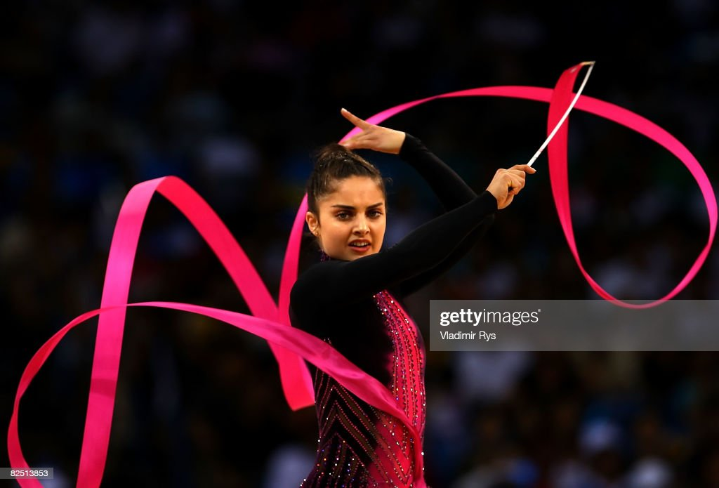 Odette Richard of South Africa competes in the Individual All-Around Qualification round at the Beijing University of Technology Gymnasium on Day 14 of the Beijing 2008 Olympic Games on August 22, 2008 in Beijing, China.