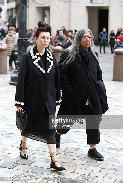 Odette Rocha and John Rocha attend a memorial service for Professor Louise Wilson during London Fashion Week Fall/Winter 2015/16 at St Paul's...