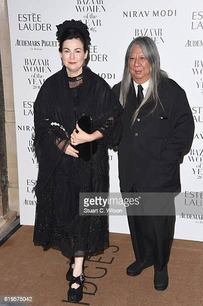 Odette Rocha and John Rocha attend Harper's Bazaar Women Of The Year Awards at Claridge's Hotel on October 31 2016 in London England