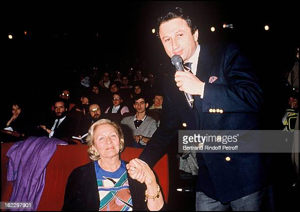 Odette Ventura and Michel Drucker Lino Ventura Records Party for the Benefit of PerceNeige in Angers 1988