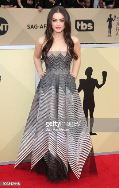 Odeya Rush arrives at the 24th Annual Screen Actors Guild Awards at The Shrine Auditorium on January 21 2018 in Los Angeles California