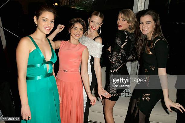 Odeya Rush Jaime King Taylor Swift and Hailee Steinfeld attend The Weinstein Company Netflix's 2014 Golden Globes After Party presented by Bombardier...